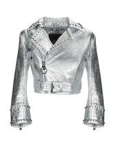 Handmade Women Silver Studded Brando Biker Leather Jacket - $172.99