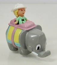1992 Vintage Lot Polly Pocket Doll Elephant Pen Pal with Polly Pencil Topper - $12.50