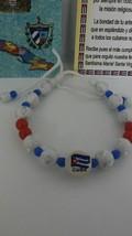 Pulsera de la Bandera de Cuba/Cuban flag bracelet with crosses adjustabl... - $19.00