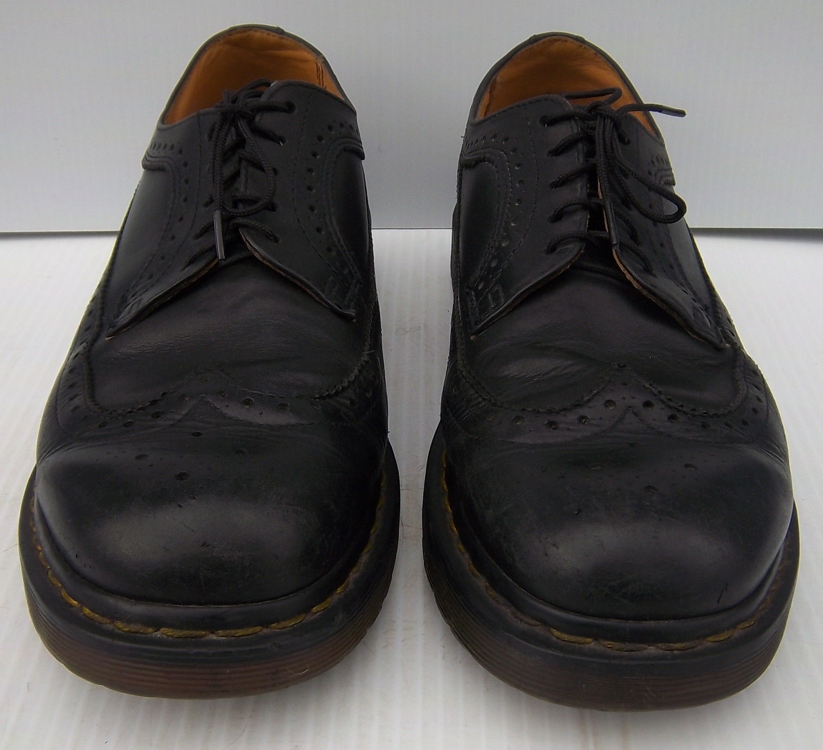 DR MARTENS  11845 Black Leather Wingtip Oxford Shoes  Size US  M9  W10