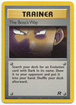 The Boss's Way 73/82 Uncommon Trainer Team Rocket Unlimited Pokemon Card
