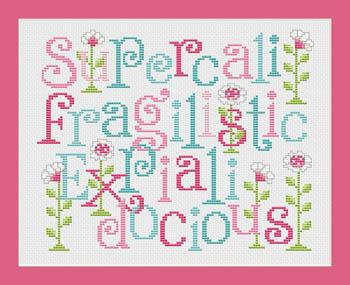 Super...docious fun whimsical cross stitch chart Sue Hillis Designs