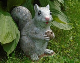 Squirrel Concrete Statue Hand Painted Life Size with Gift bag options Fi... - $39.99