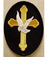Embroidered Christian Patch The Cross and The D... - $3.95