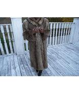 Designer Full Length Revillon Saks Finnish Raccoon Fur Coat jacket  M 6-12 - $1,187.99