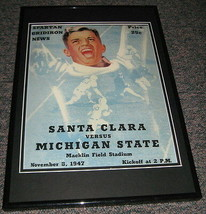 1947 Santa Clara vs Michigan State Football Framed 10x14 Poster Official... - $32.36