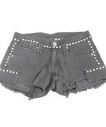 Jimmy Taverniti Womens Cut Off Short Shorts Black Denim w Studs Size 24 NWT - $39.59