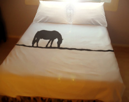 Horse Duvet Cover Set Bedding Twin Full Double Queen King Size unique cu... - $140.00