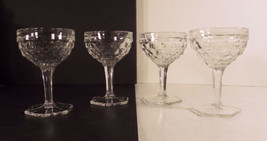Fostoria American Tall Sherbet Champagne Goblet (s) LOT 4 Hex Foot Crystal Glass - $24.54