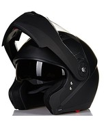 ILM 8 Colors Motorcycle Modular Flip up Dual Visor Helmet (Large|Matte B... - $85.27