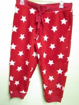# SWEET TREATS SIZE M CAPRI PAJAMA PANTS RED / WHITE STARS NWT - $10.99