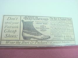 1889 Ad Burt & Packard Shoes, Packard & Field, Brock - $7.99