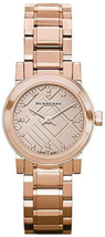 "NWT Burberry BU9215 Women's ""Heritage"" Rose Gold Diamond Marker Watch - $199.95"