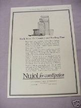 1917 Ad Nujol For Constipation Standard Oil Company - $7.99