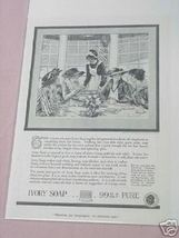 1919 Ivory Soap Ad Maid Serving Luncheon - $7.99