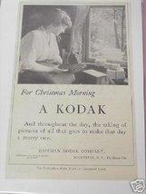 1914 Kodak Camera Ad For Christmas Morning, A Kodak - $7.99