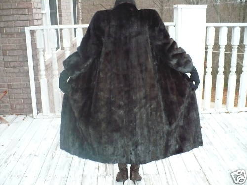 Mint Female Black brown black Mink Fur Coat Jacket S
