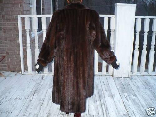 Mint Female Lunaraine brown Mink Fur Coat Jacket S