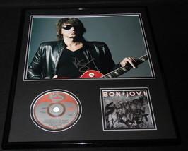Richie Sambora Signed Framed Bon Jovi Slippery When Wet CD & Photo Display - $280.49