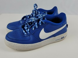 Nike Air Force 1 Size 7Y Youth Statement Game NBA blue low tops AF1 VG c... - $84.14