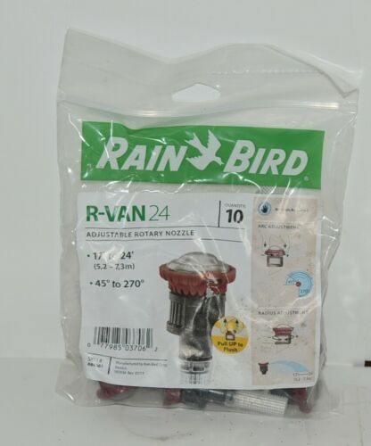 RainBird R VAN 24 Adjustable Rotary Nozzle 45 to 270 degrees Pack of 10
