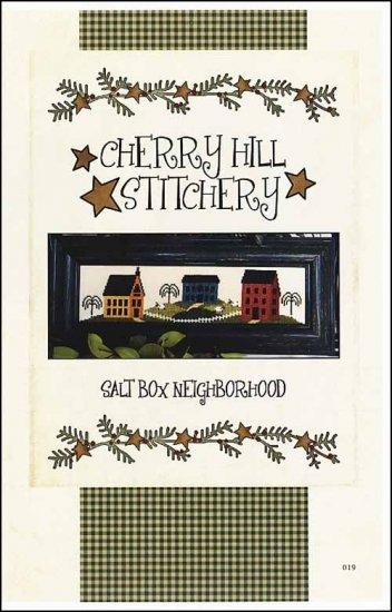 Salt Box Neighborhood cross stitch chart Cherry Hill Stitchery
