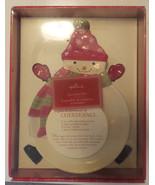 Hallmark Snowman Christmas Serving Plate Spreaders Recipe Christmas Mittens - $14.89