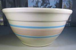 "Vintage MCcoy Banded Blue & Pink Pottery Stoneware 8"" diam. Bowl Ovenpro... - $25.00"