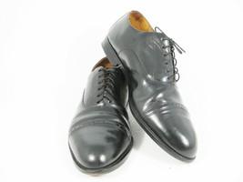 Bass Men's Black Leather Dress Shoes Oxford Lace Up Cap Toe Waterproof 11 D - $29.44