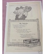 1915 Campbell's Soup Ad My Valentine - $7.99