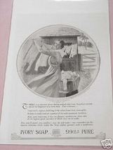 1918 Ivory Soap Ad Woman with Clothes Line - $7.99