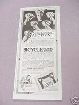 1919 Bicycle Playing Cards Ad Are You Learning Auction? - $7.99