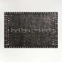 New 5x8 6x9 8x10 9x12 Erria Black  Hand Tufted Woolen Area Rug - $299.00+