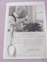 1925 Gorham Silversmiths Cinderella Pattern Ad - $7.99