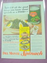 1930 Del Monte Spinach Color Ad With Recipes - $7.99