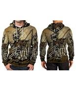 Lamb Of God new skull Hoodie Fullprint Men - $44.99