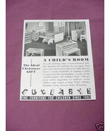 1941 Child's Room Ad Lullabye Furniture Corp. - $7.99