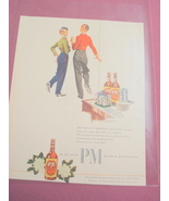 1940's Color Ad-PM Deluxe Blended Whiskey - $7.99