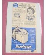 1940's/50's Deepfreeze Home Freezer Ad - $7.99