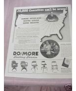 1941 Ad Domore Chair Company, Elkhart, Indiana - $7.99