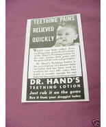 1942 Dr. Hand's Teething Lotion - $7.99