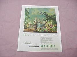 1951 Grace Lines Cruise Ship Ad - $7.99