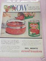 1955 Del Monte Stewed Tomatoes Full Page Color Ad - $7.99