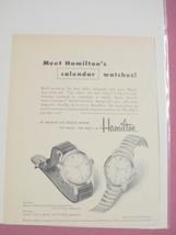1955 Hamilton Calendar Wristwatch Ad - $7.99