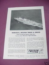 1958 Babcock & Wilcox Boilers Ad S.S. Santa Rosa - $7.99
