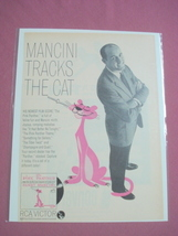 1964 Pink Panther Henry Mancini Record Ad - $7.99