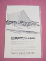 1965 GM Futurama New York World's Fair Ad - $7.99