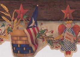 USA American Flag Birdhouse Heart Basket Liberty Angel Hanging on the St... - $16.33