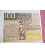 1970's Color Ad 100 Little Dolls All For $1.50 - $7.99