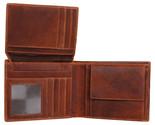 Men's Genuine Slim Leather Bi fold Wallets with 2 Receipt Pockets for Men - £21.88 GBP
